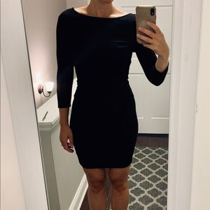 Forever 21 Black Mini Dress with 3/4 Sleeves